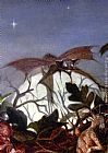 John Anster Fitzgerald Fairies In A Bird's Nest (detail 3) painting