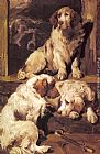 John Emms Clumber Spaniels painting