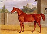 John Frederick Herring Snr A Chestnut Racehorse in a Stable Yard painting