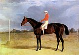 John Frederick Herring Snr A Dark Bay Racehorse with Patrick Connolly Up painting