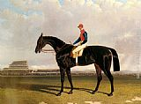 John Frederick Herring Snr Lord Chesterfield's Industry with William Scott up at Epsom painting