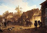John Frederick Herring Snr The Country Inn painting