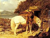 John Frederick Herring Snr The End of the Day painting