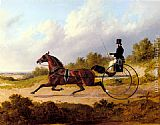 John Frederick Herring Snr The Famous Trotter Confidence Drawing A Gig painting