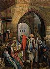 John Frederick Lewis A Cairo Bazaar - The Della 'l' painting