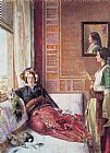 John Frederick Lewis Harem Life in Constantinople painting