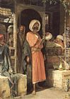 John Frederick Lewis The Door of a Café in Cairo painting