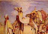 John Frederick Lewis The Greeting in the Desert, Egypt painting