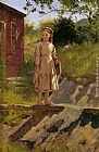 John George Brown Young Girl painting