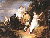 John Hayter Portrait of the Children of the Rev. Joseph Arkwright of Mark Hall, Essex painting