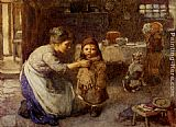John Henry Henshall This is the way we go to school painting