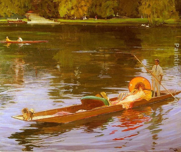 John Lavery Boating On The Thames