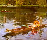 John Lavery Boating On The Thames painting