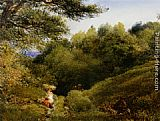 John Linnell A Surrey Glade painting