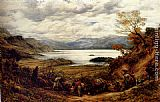 John Linnell The Emigrants, Derwent Water, Cumberland painting