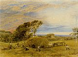 John Linnell The Harvest Field painting