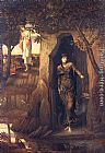 John Melhuish Strudwick Circe and Scylla painting