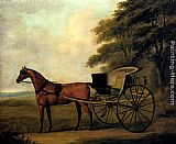 John Nost Sartorius A Horse And Carriage In A Landscape painting