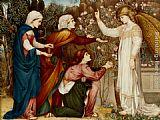 John Roddam Spencer Stanhope Why seek ye the living among the dread St Luke, Chapter XIV, verse 5 painting