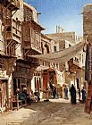 John Varley A Street In Boulaq Near Cairo painting
