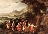 Joos De Momper Helicon or Minerva's Visit to the Muses painting