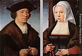 Joos van Cleve Portrait of a Man and Woman painting