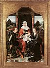 Joos van Cleve St Anne with the Virgin and Child and St Joachim painting