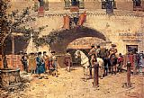 Jose Benlliure y Gil Entering The Arena painting