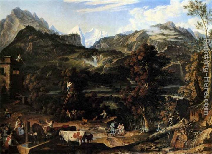 Joseph Anton Koch The Upland near Bern