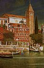Joseph Edward Southall The Tower of San Vitale painting