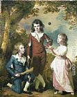 Joseph Wright of Derby The Children of Hugh and Sarah Wood of Swanwick, Derbyshire painting
