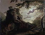 Joseph Wright of Derby Virgil's Tomb painting