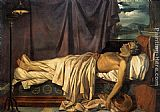 Joseph-Denis Odevaere Lord Byron on his Death-bed painting