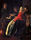 Judith Leyster A Game Of Cards painting