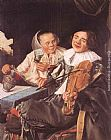 Judith Leyster Carousing Couple painting