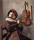 Judith Leyster Young Flute Player painting