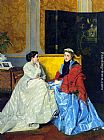 Jules Adolphe Goupil Confidences painting