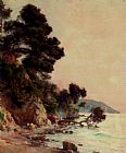 Jules-Alexis Muenier Woodburners on the French Coast painting