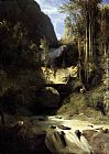 Karl Blechen Gorge at Amalfi painting