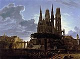 Karl Friedrich Schinkel Medieval Town by Water painting