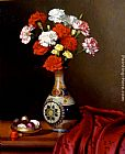 Kirk Richards Carnations and Chocolates painting