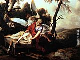 Laurent De La Hire Abraham Sacrificing Isaac painting