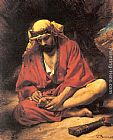 Leon Bonnat An Arab removing a thorn from his foot painting