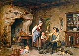 Leon Caille The Huntsman's Home Coming painting