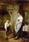 Leon Caille The Lesson painting