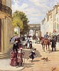 Leon Joseph Voirin A Summer's Day, Nancy painting