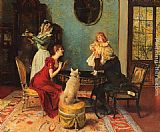Leopold Schmutzler The Centre of Attention painting