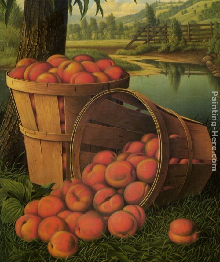 Levi Wells Prentice Bushels of Peaches Under a Tree