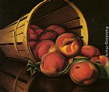 Levi Wells Prentice Basket of Peaches painting