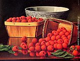 Levi Wells Prentice Baskets of Raspberries painting